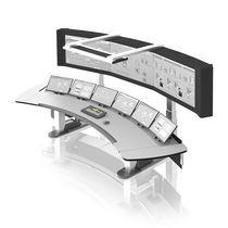 Терминал с клавиатурой / на подставке / для контроля / для визуализации