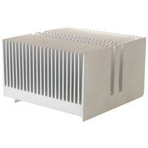 Тепловой радиатор из алюминия / экструдированный / мощности / с мелкими лопастями