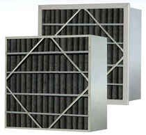 Воздушный фильтр / из панелей / с активированным углем / складчатый