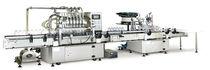 Линейная наполнительная / укупорочная машина / центробежная / для молочных продуктов / напитка