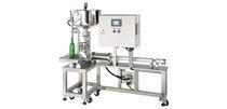 Наполнительная машина для бутылок / полуавтоматическая / для жидкостей / для густого продукта