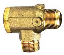 Предохранительный клапан с вентилем / из меди