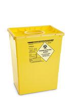 Мусорный контейнер из пластика / для медицинских отходов / с крышкой