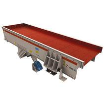 Вибрационное подающее устройство / с непрерывным движением / для конвейерной ленты