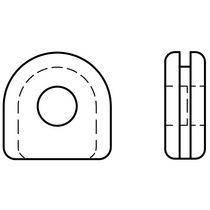 Проходная втулка из каучука / открытая / в форме U