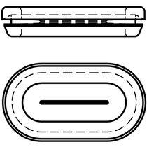 Проходная втулка из каучука / открытая / для прорези