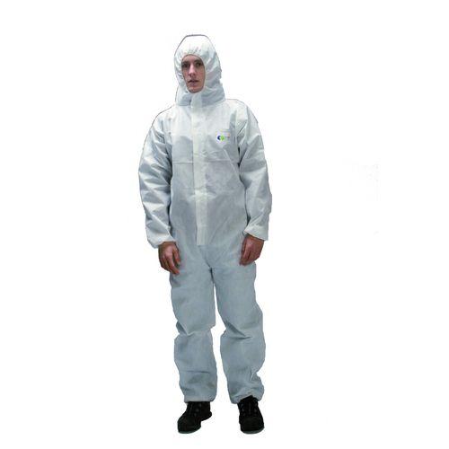 рабочий костюм с химической защитой / одноразовый / воздухопроницаемый