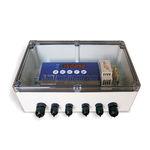соединительная коробка на DIN-рейке / из пластика / с прозрачной крышкой