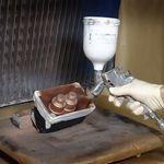 краска с защитными материалами от ЭМИ / медная / из серебристой стали / для настила
