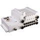 пневматический распределитель с выдвижным ящиком / с прямым управлением / из алюминия / модульный