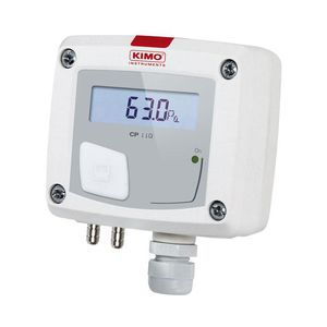 дифференциальный датчик давления / мембранный / для монтажа в стену / с дисплеем LCD