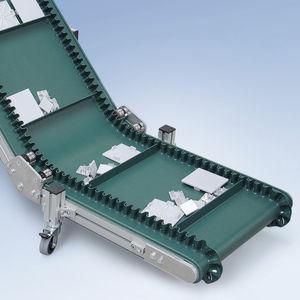 ленточный конвейер / для сыпучих веществ / для ящиков / для небольших деталей