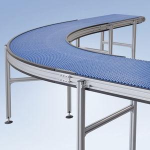 конвейер с модульной лентой / для сельского хозяйства и пищевой промышленности / изогнутый / наклонный