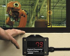 расходомер для воздуха / со светодиодным индикатором / дистанционный