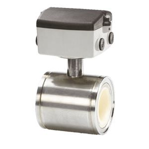 электромагнитный расходомер / для воздуха / с фланцем / из нержавеющей стали