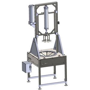 машина для нарезки для овощей / для фруктов / полуавтоматическая / на подставке