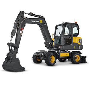 экскаватор мини / на колесах / дизельный / для строительной площадки
