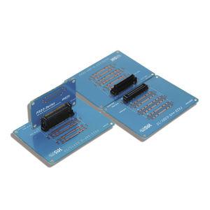 коннектор для передачи данных / плата-плата / параллельный / с прямым углом