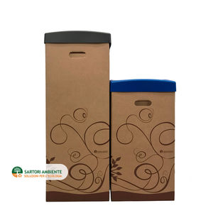 мусорный контейнер из картона