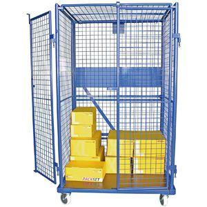 контейнер на колесиках из металлической сетки