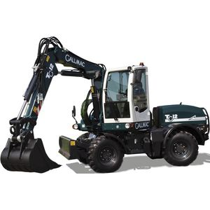 промежуточный экскаватор / колесный / дизельный / для строительной площадки