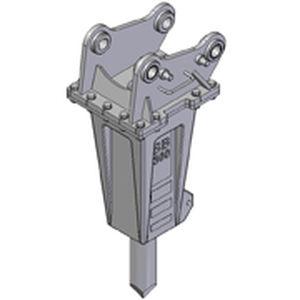 гидравлический отбойный молоток / для легкой подпорной стойки / вертикальный