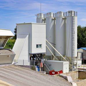 стационарная бетоносмесительная установка / одноосная