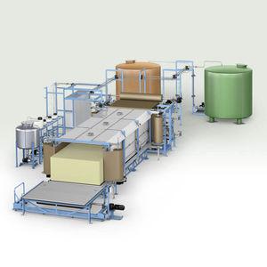 производственная линия блоки гибкой пены PUR