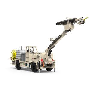 машина для механического нанесения бетон / с манипулятором