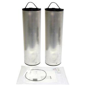 воздушный фильтрующий элемент / с активированным углем / из металла / с высокой пропускной способностью