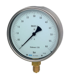 аналоговый манометр / с трубкой Бурдона / для газа / для жидкостей