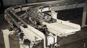 роликовый конвейер / цепной / для поддонов / модульный