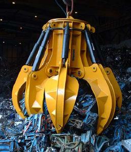 грейфер типа апельсиновой корки / гидравлический / с 6 зубьями / для металлолома