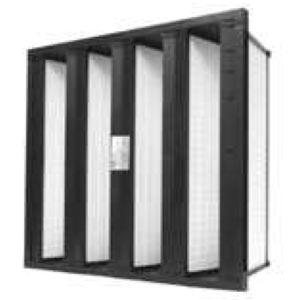 воздушный фильтр / с множеством отделений / из стекловолокна / с высокой эффективностью