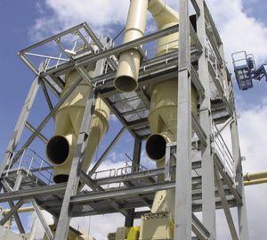 воздушный сепаратор / циклонный / для металлов / песок