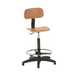 поворотный стул деревянная спинка