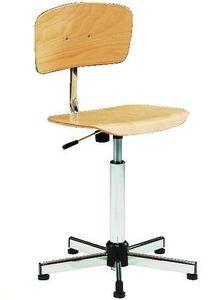поворотный стул деревянное сидение