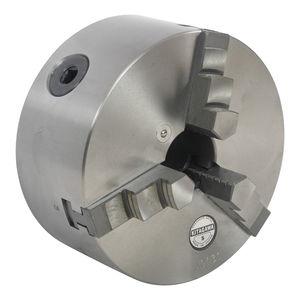 токарный патрон с ручной затяжкой / трехкулачковый / с проходом в центре / из стали