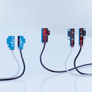 миниатюрный фотоэлектрический обнаружитель / с подавлением воздействия окружающей среды / тип заграждения / прямоугольный