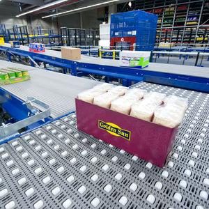 ленточный конвейер / для сельского хозяйства и пищевой промышленности / для контейнеров / для лотков