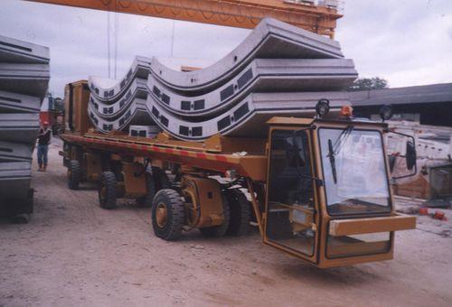 трехосный прицеп / для промышленного оборудования / платфома / для строительства туннеля