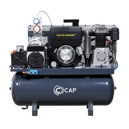 воздушный компрессор / стационарный / с дизельным двигателем / поршневый