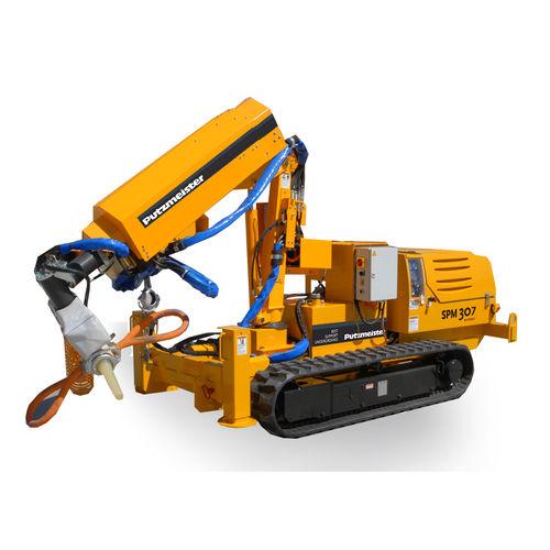 машина для механического нанесения бетон