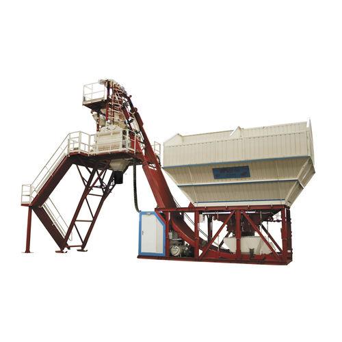 полумобильная бетоносмесительная установка