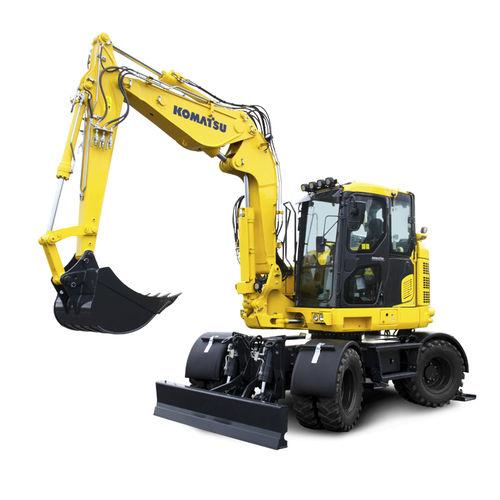 малогабаритный экскаватор / колесный / дизельный / для строительной площадки
