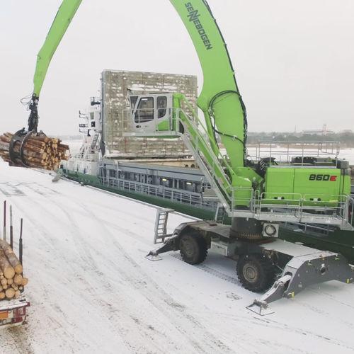 ковш для транспортировки материалов на колесах