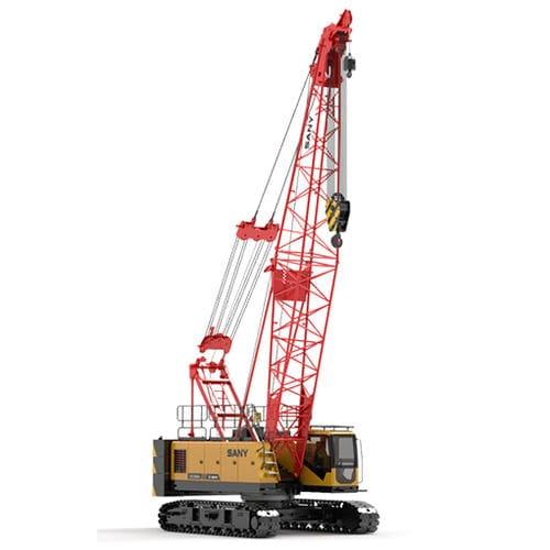гусеничный башенный кран / со стрелой / решетка / для строительной площадки