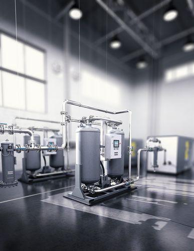 сушильная установка на сжатом воздухе адсорбцией с регенерацией теплотой сжатия
