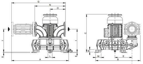 выдуватель для природного газа / для биогаза / с боковым каналом / одноуровневый