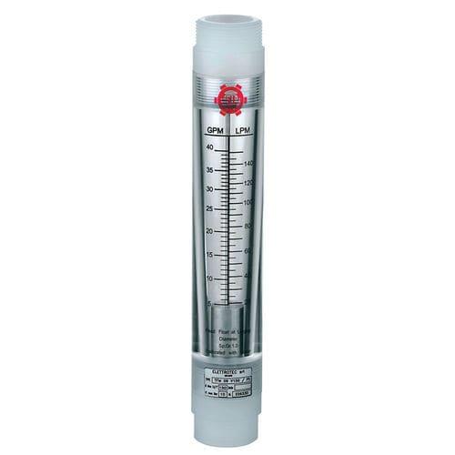 расходомер с поплавком / для газа / для жидкостей / с поплавком с трубкой из пластикового материала